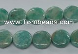 CAM500 15.5 inches 12mm coin mexican amazonite gemstone beads