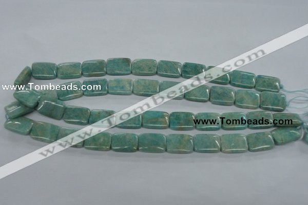 CAM502 15.5 inches 13*18mm rectangle mexican amazonite gemstone beads