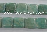 CAM503 15.5 inches 12*12mm square mexican amazonite gemstone beads