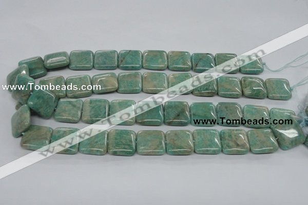 CAM504 15.5 inches 18*18mm square mexican amazonite gemstone beads