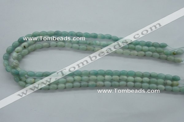 CAM516 15.5 inches 6*8mm rice mexican amazonite gemstone beads