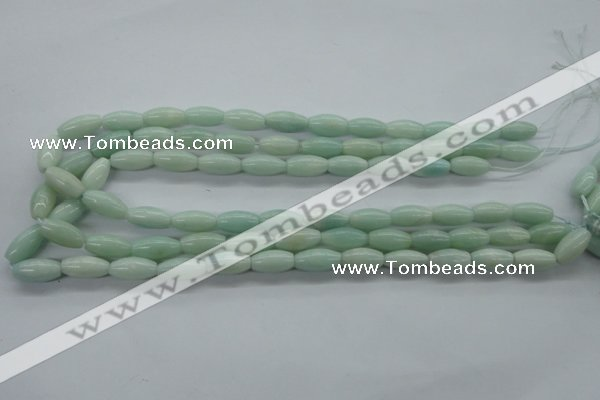 CAM517 15.5 inches 8*16mm rice mexican amazonite gemstone beads
