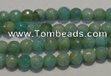 CAM811 15.5 inches 6mm faceted round Brazilian amazonite beads