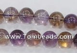 CAN05 15.5 inches 14mm round natural ametrine gemstone beads