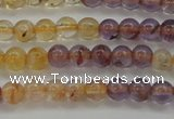 CAN101 15.5 inches 4mm round ametrine beads wholesale