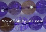 CAN226 15.5 inches 9mm faceted round ametrine beads wholesale