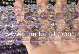 CAN230 15.5 inches 10mm faceted round ametrine gemstone beads