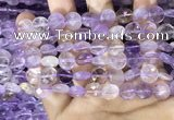 CAN232 15.5 inches 10mm faceted coin ametrine beads wholesale