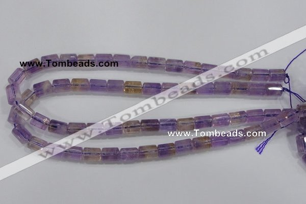 CAN27 15.5 inches 8*12mm column natural ametrine gemstone beads