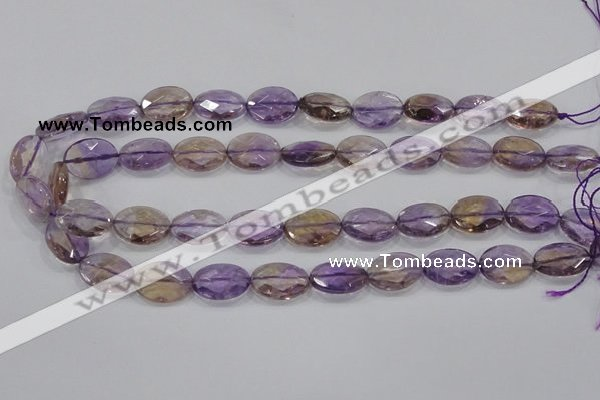 CAN33 15.5 inches 13*18mm faceted oval natural ametrine beads