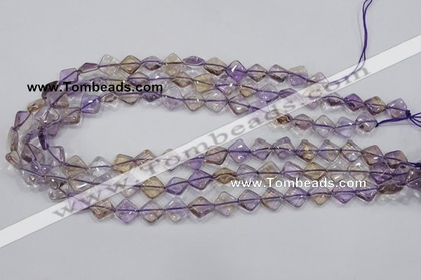 CAN35 15.5 inches 10*10mm diamond natural ametrine gemstone beads