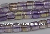CAN36 15.5 inches 10*10mm square natural ametrine gemstone beads