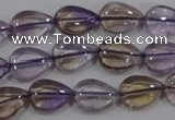 CAN38 15.5 inches 10*14mm flat teardrop natural ametrine beads