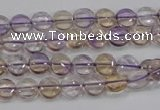 CAN40 15.5 inches 10mm flat round natural ametrine gemstone beads