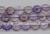 CAN41 15.5 inches 12mm flat round natural ametrine gemstone beads
