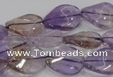 CAN53 15.5 inches 12*16mm twisted oval natural ametrine beads
