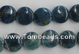 CAP207 15.5 inches 12mm flat round natural apatite gemstone beads