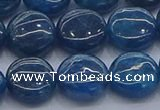 CAP382 15.5 inches 12mm flat round apatite gemstone beads