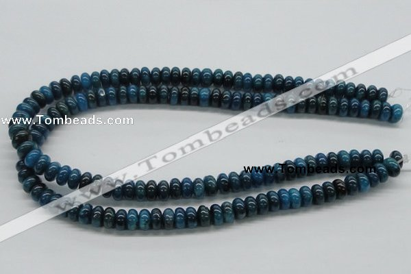 CAP58 15.5 inches 6*10mm rondelle dyed apatite gemstone beads wholesale