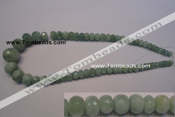 CAQ310 15.5 inches 6*8mm � 15*20mm faceted rondelle aquamarine beads
