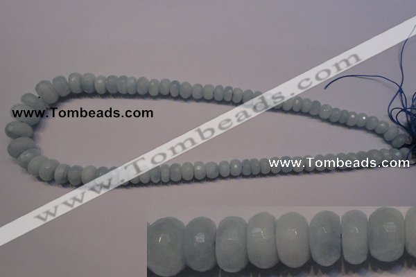 CAQ311 15.5 inches 5*7mm – 8*14mm faceted rondelle aquamarine beads