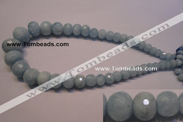 CAQ312 15.5 inches 6*9mm � 18*22mm faceted rondelle aquamarine beads