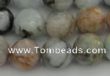 CAQ425 15.5 inches 16mm faceted round natural aquamarine beads