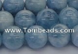 CAQ531 15.5 inches 12mm round AA+ grade natural aquamarine beads