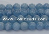 CAQ535 15.5 inches 4mm round AAA grade natural aquamarine beads