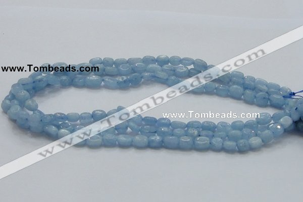 CAQ55 15.5 inches 8*9mm nugget natural aquamarine gemstone beads
