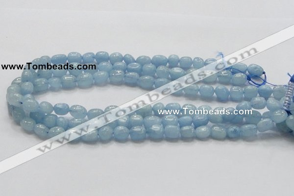 CAQ57 15.5 inches 10*12mm nugget natural aquamarine gemstone beads