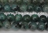 CAQ601 15.5 inches 6mm round aquamarine gemstone beads