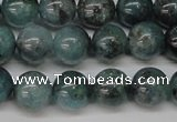 CAQ603 15.5 inches 10mm round aquamarine gemstone beads