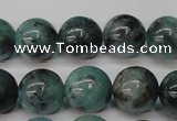 CAQ604 15.5 inches 12mm round aquamarine gemstone beads
