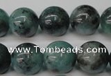 CAQ605 15.5 inches 14mm round aquamarine gemstone beads