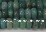 CAQ610 15.5 inches 4*6mm rondelle aquamarine gemstone beads