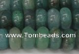 CAQ612 15.5 inches 6*10mm rondelle aquamarine gemstone beads