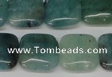 CAQ639 15.5 inches 16*16mm square aquamarine gemstone beads