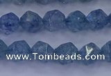 CAQ772 15.5 inches 8mm faceted nuggets imitation aquamarine beads