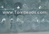 CAQ893 15.5 inches 5*9mm - 5*10mm faceted rondelle aquamarine beads