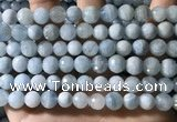 CAQ902 15.5 inches 8mm faceted round aquamarine beads