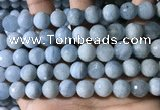 CAQ903 15.5 inches 10mm faceted round aquamarine beads