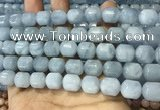CAQ917 15.5 inches 10*12mm tube aquamarine gemstone beads