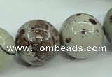 CAR09 15.5 inches 20mm round artistic jasper beads wholesale