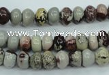 CAR11 15.5 inches 5*8mm rondelle artistic jasper beads wholesale