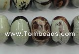 CAR18 15.5 inches 13*18mm rondelle artistic jasper beads wholesale
