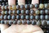 CAR219 15.5 inches 9mm round natural amber beads wholesale