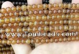 CAR233 15.5 inches 5mm - 5.5mm round natural amber beads wholesale