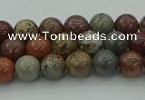 CAR350 15.5 inches 4mm round red artistic jasper beads wholesale