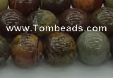 CAR354 15.5 inches 12mm round red artistic jasper beads wholesale